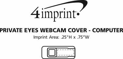 Imprint Area of Private Eyes Webcam Cover - Computer