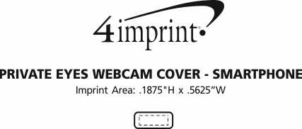Imprint Area of Private Eyes Webcam Cover - Smartphone