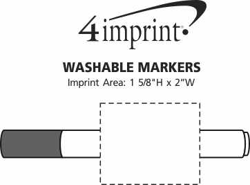 Imprint Area of Washable Markers