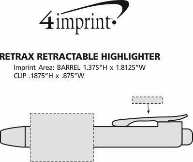 Imprint Area of Retrax Retractable Highlighter