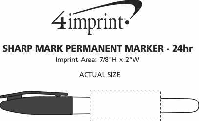 Imprint Area of Sharp Mark Permanent Marker - 24 hr