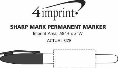 Imprint Area of Sharp Mark Permanent Marker