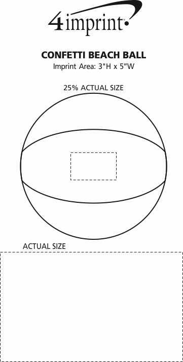 Imprint Area of Confetti Beach Ball