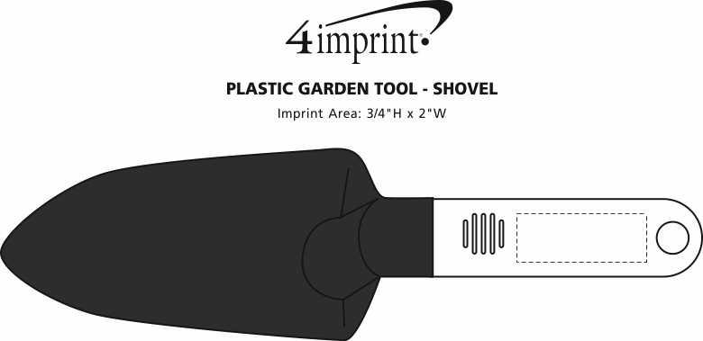 Imprint Area of Plastic Garden Tool - Shovel