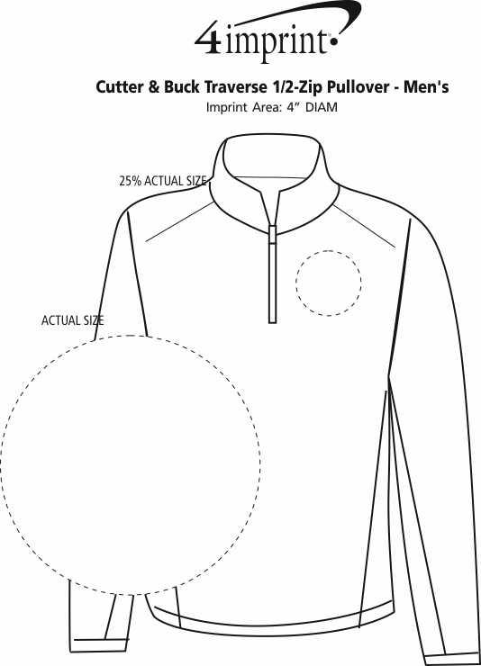 Imprint Area of Cutter & Buck Traverse 1/2-Zip Pullover - Men's