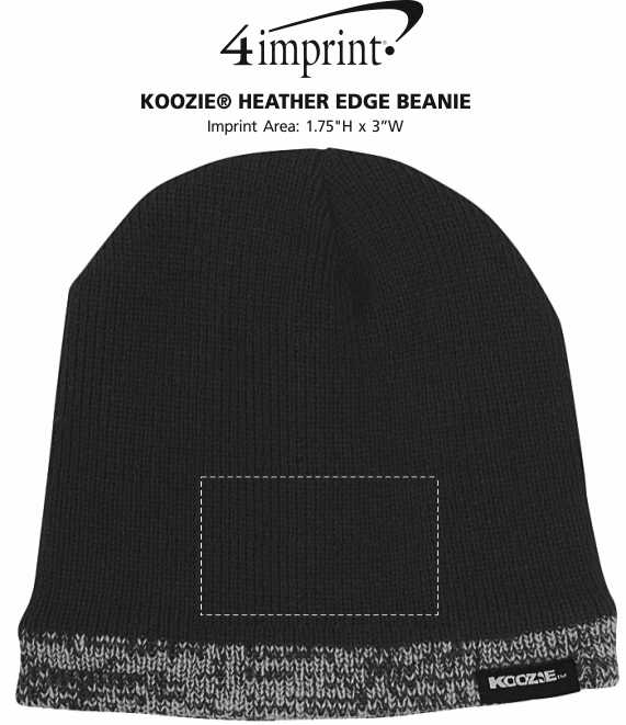 Imprint Area of Koozie® Heather Edge Beanie