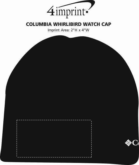 Imprint Area of Columbia Whirlibird Watch Cap