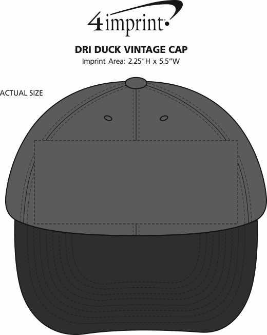 Imprint Area of DRI DUCK Vintage Cap