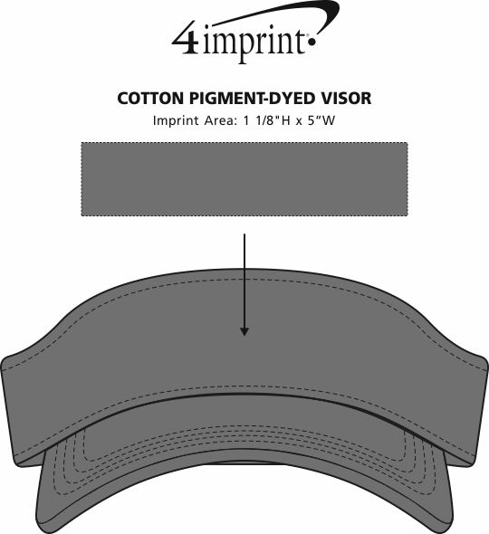Imprint Area of Cotton Pigment-Dyed Visor