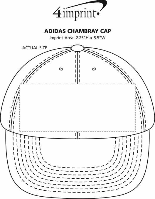 Imprint Area of adidas Chambray Cap