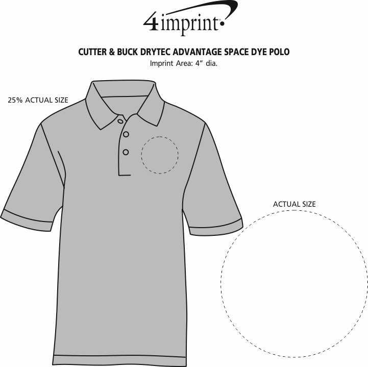 Imprint Area of Cutter & Buck DryTec Advantage Space Dye Polo