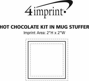 Imprint Area of Hot Chocolate Kit in Mug Stuffer