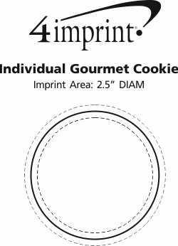 Imprint Area of Individual Gourmet Cookie