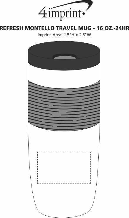 Imprint Area of Refresh Montello Travel Mug - 16 oz. - 24 hr