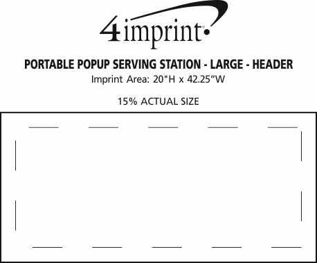 Imprint Area of Portable Popup Serving Station - Large - Header