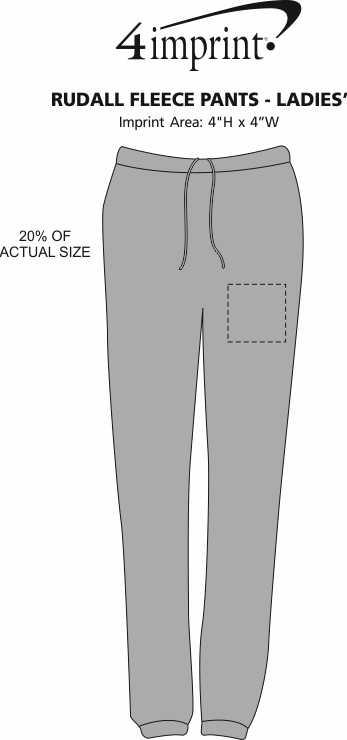 Imprint Area of Rudall Fleece Pants - Ladies'