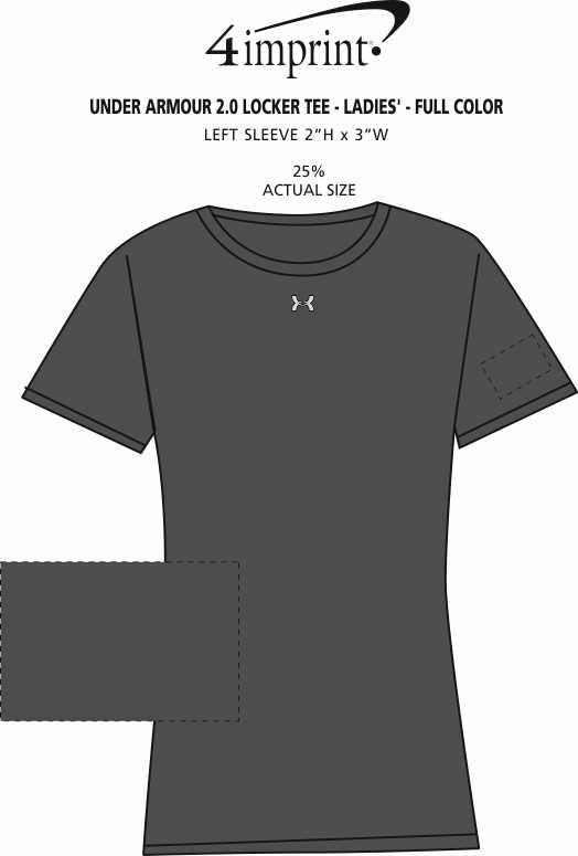 Imprint Area of Under Armour 2.0 Locker Tee - Ladies' - Full Color