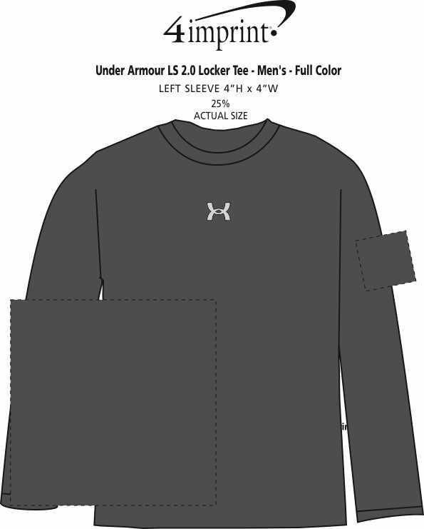 Imprint Area of Under Armour LS 2.0 Locker Tee - Men's - Full Color