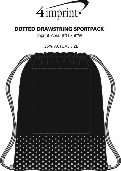 Imprint Area of Dotted Drawstring Sportpack