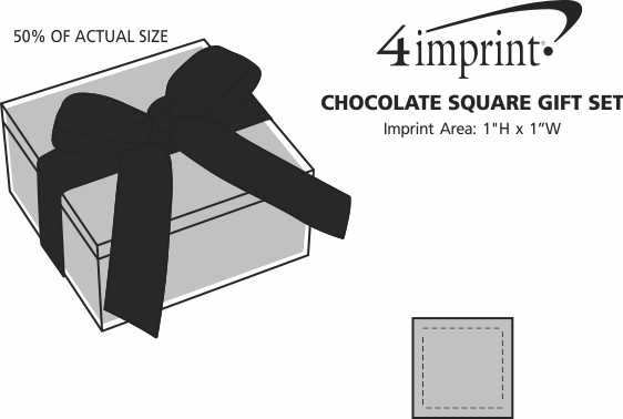 Imprint Area of Chocolate Square Gift Set