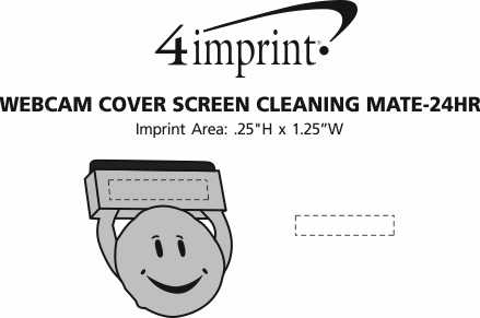 Imprint Area of Webcam Cover Screen Cleaning Mate - 24 hr