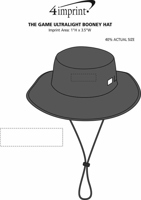 Imprint Area of The Game Ultralight Booney Hat