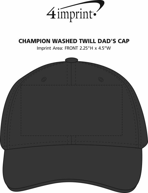Imprint Area of Champion Washed Twill Dad's Cap