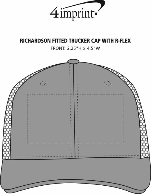Imprint Area of Richardson Fitted Trucker Cap with R-Flex