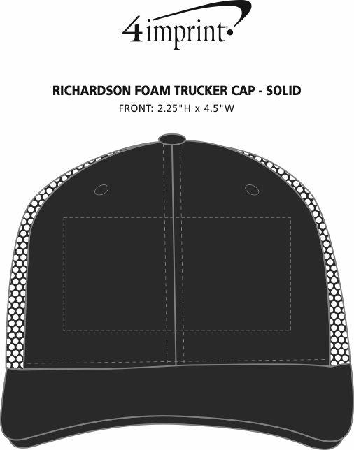 Imprint Area of Richardson Foam Trucker Cap - Solid