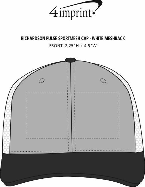 Imprint Area of Richardson Pulse Sportmesh Cap - White Meshback
