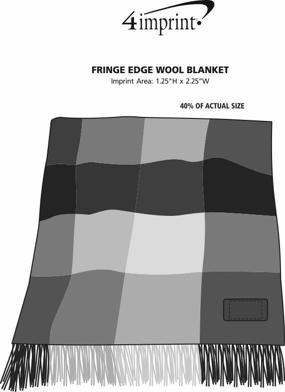 Imprint Area of Fringe Edge Throw Blanket