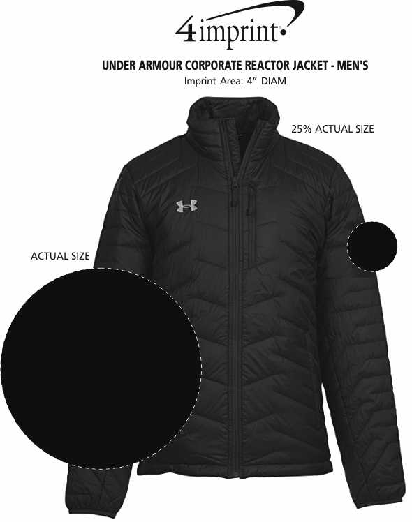 Imprint Area of Under Armour Corporate Reactor Jacket - Men's