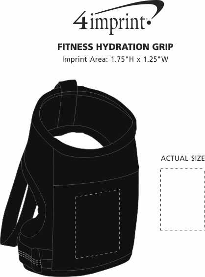 Imprint Area of Fitness Hydration Grip