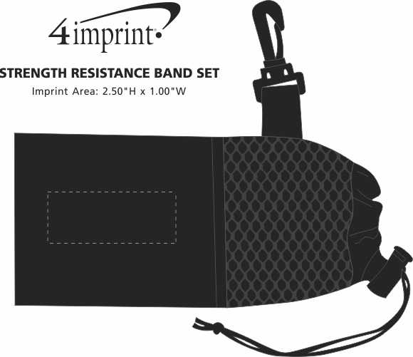 Imprint Area of Strength Resistance Band Set