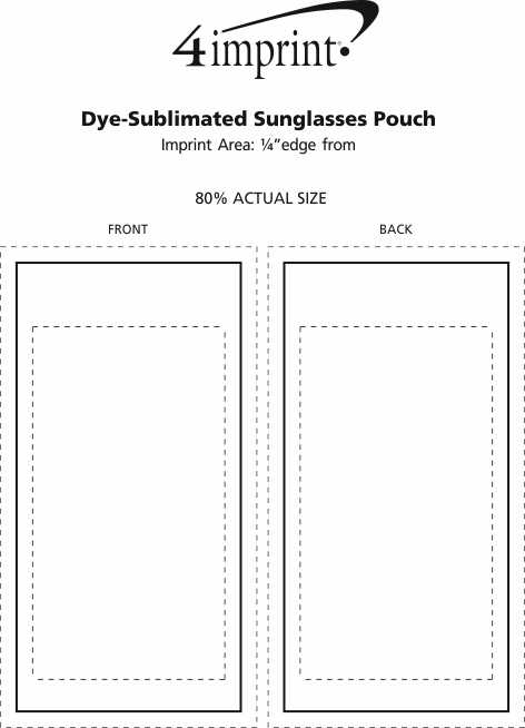 Imprint Area of Dye-Sublimated Sunglasses Pouch