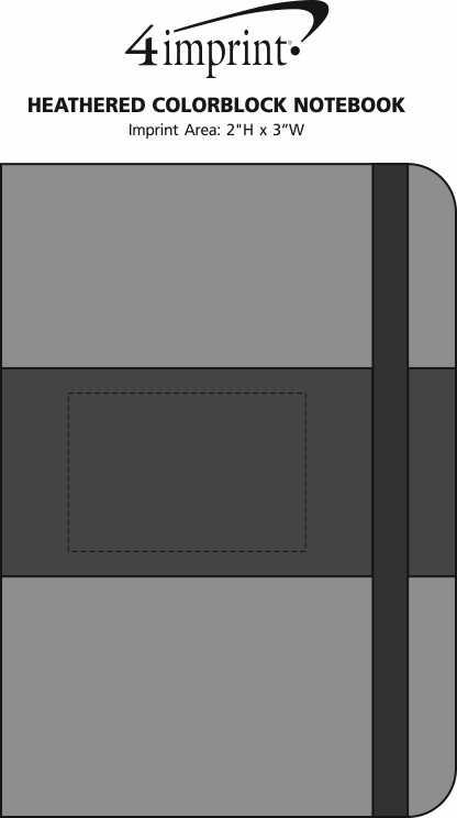 Imprint Area of Heathered Colorblock Notebook