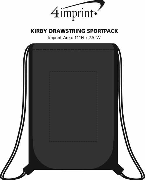 Imprint Area of Kirby Drawstring Sportpack