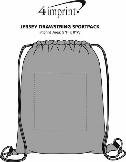 Imprint Area of Jersey Drawstring Sportpack