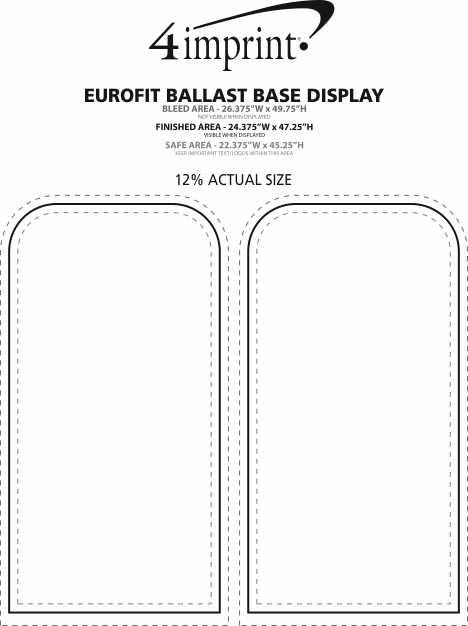 Imprint Area of EuroFit Ballast Base Display