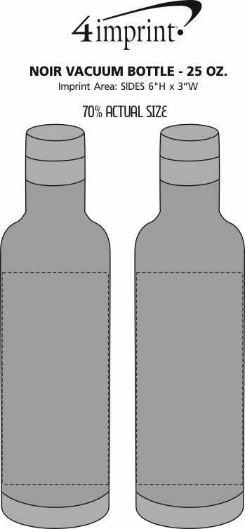 Imprint Area of Noir Vacuum Bottle - 25 oz.