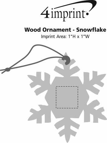 Imprint Area of Wood Ornament - Snowflake