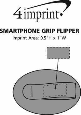 Imprint Area of Smartphone Grip Flipper