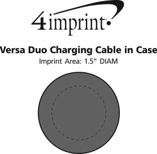 Imprint Area of Versa Duo Charging Cable in Case