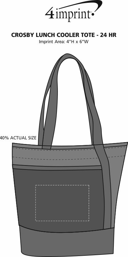 Imprint Area of Crosby Lunch Cooler Tote  - 24 hr