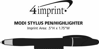Imprint Area of Modi Stylus Twist Pen/Highlighter