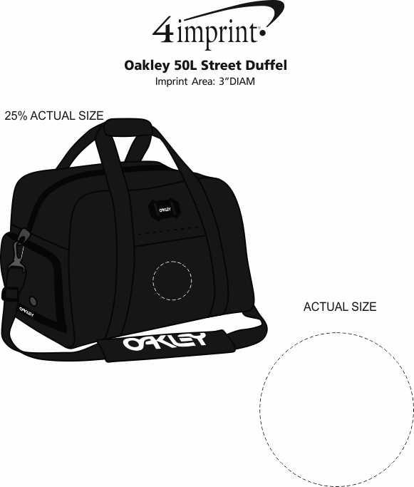 Imprint Area of Oakley 50L Street Duffel