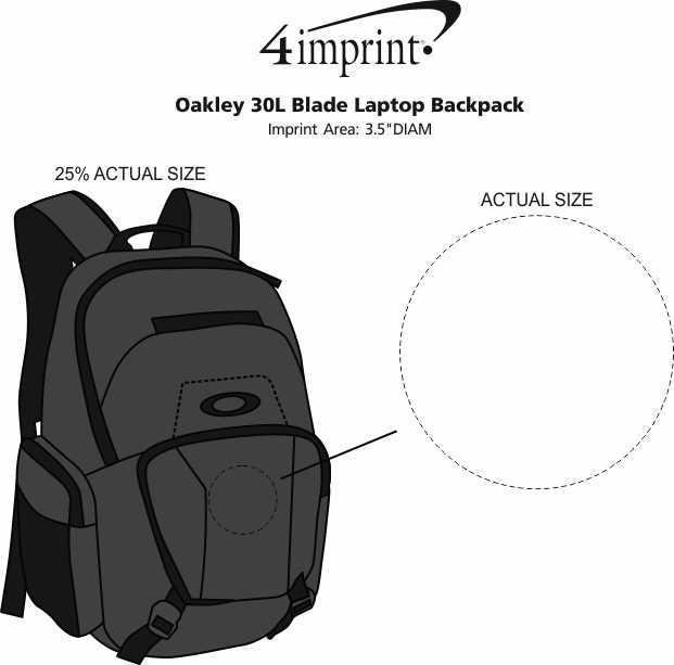Imprint Area of Oakley 30L Blade Laptop Backpack