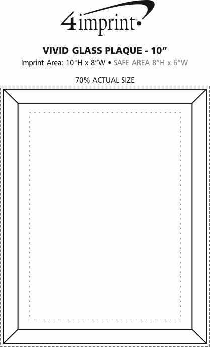 "Imprint Area of Vivid Glass Plaque - 10"""