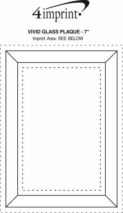 "Imprint Area of Vivid Glass Plaque - 7"""
