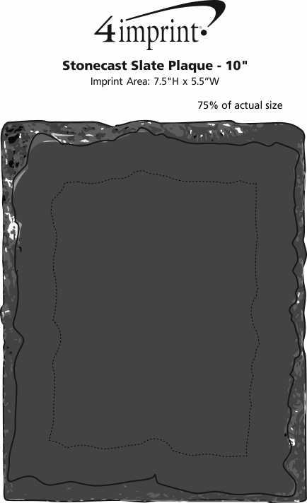 "Imprint Area of Stonecast Slate Plaque - 10"""